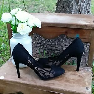 LC lace heels